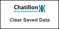 How do I clear saved data from Chatillon DFE II and DFS II force gauges