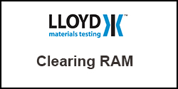 How do I clear the RAM from my Plus Series test machine